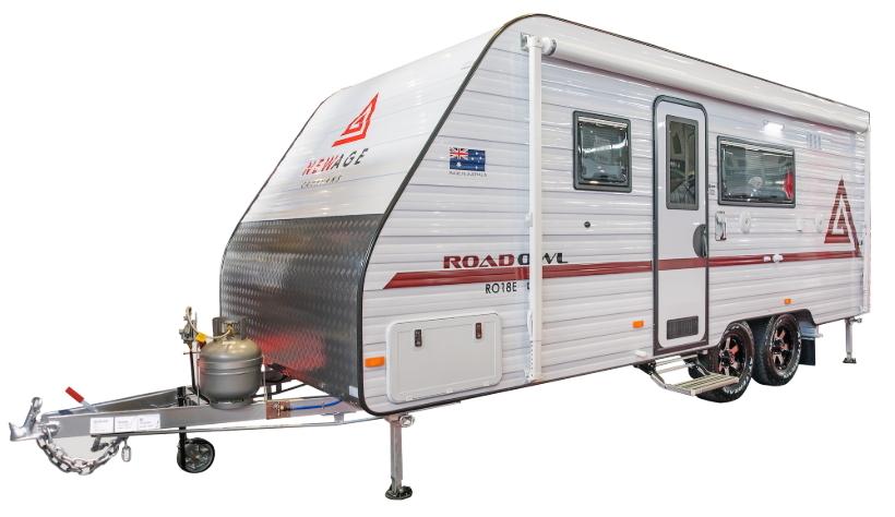white bunk caravan