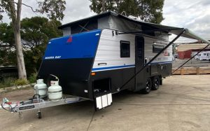 external picture of a poptop caravan