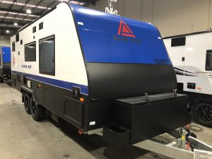Luxury Manta Ray Caravan blue white