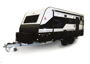 black and white new age caravan