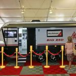 big red caravan show on display