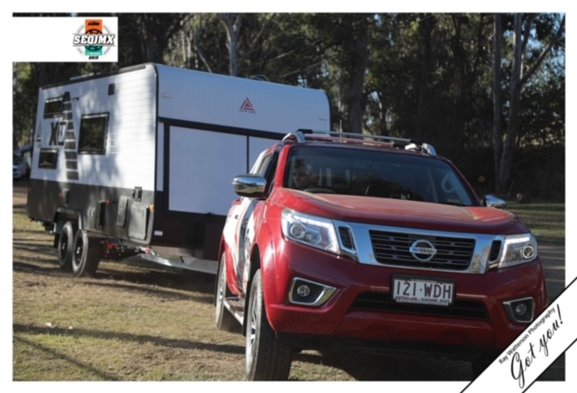 New Age toyhauler caravan ute towing on the offroad