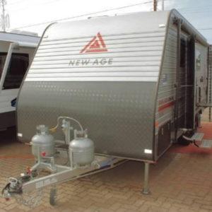 silver offroad caravan